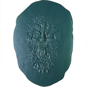 Green Man slab