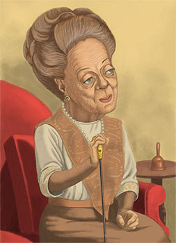 Maggie Smith as Lady Grantham in Downton Abbey